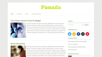 Panda Blogger Template