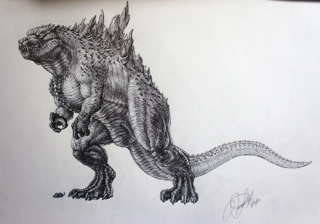Godzilla 2014Godzilla 2014 Sketch