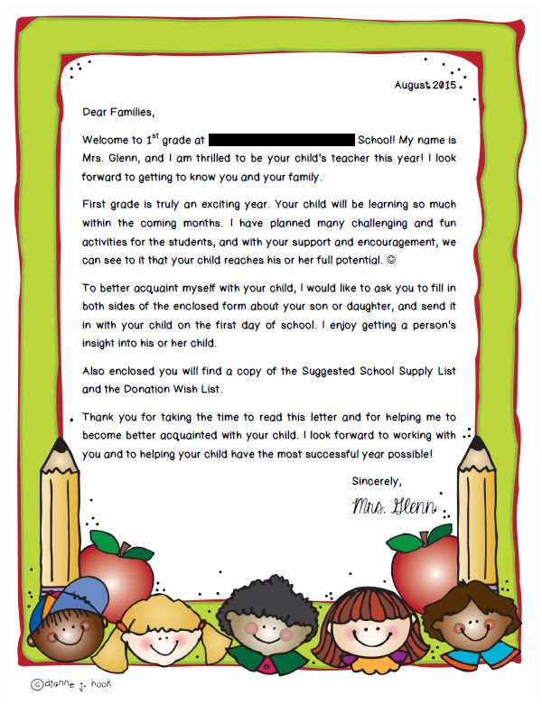 Real life in first grade july 2015 back to school summer letter for parents altavistaventures Gallery