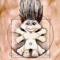 Vitruvian Troll drawing KmBennettArt