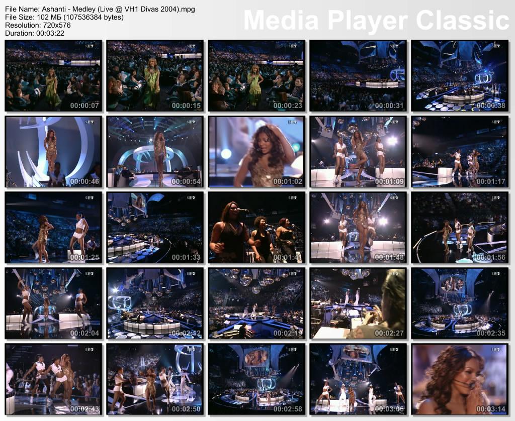 Muzvideo Live Performances: Ashanti - Medley (Live @ VH1 Divas 2004)
