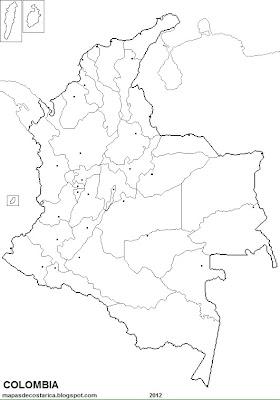 Mapa de politico con capitales de COLOMBIA