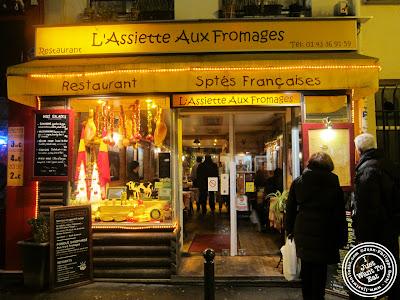 Image of the Entrance of L'assiette aux deux fromages in Paris, France