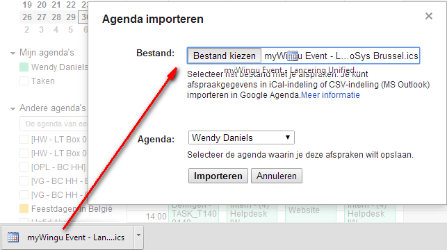 csv bestand importeren in outlook