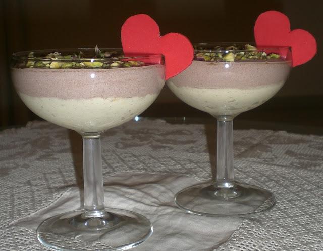 coppe di bavarese al pistacchio di De Riso
