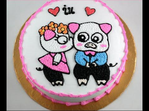 Ảnh bánh sinh nhật đẹp nhất tặng vợ yêu chồng yêu đáng yêu nhất