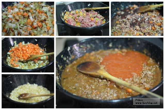 Lazy blog empanada casera de carne picada - Como cocinar carne picada ...
