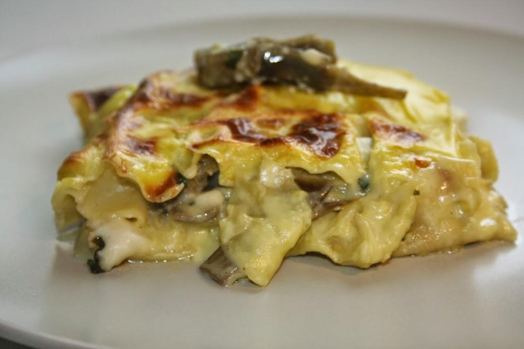 lasagne coi carciofi e caciocavallo