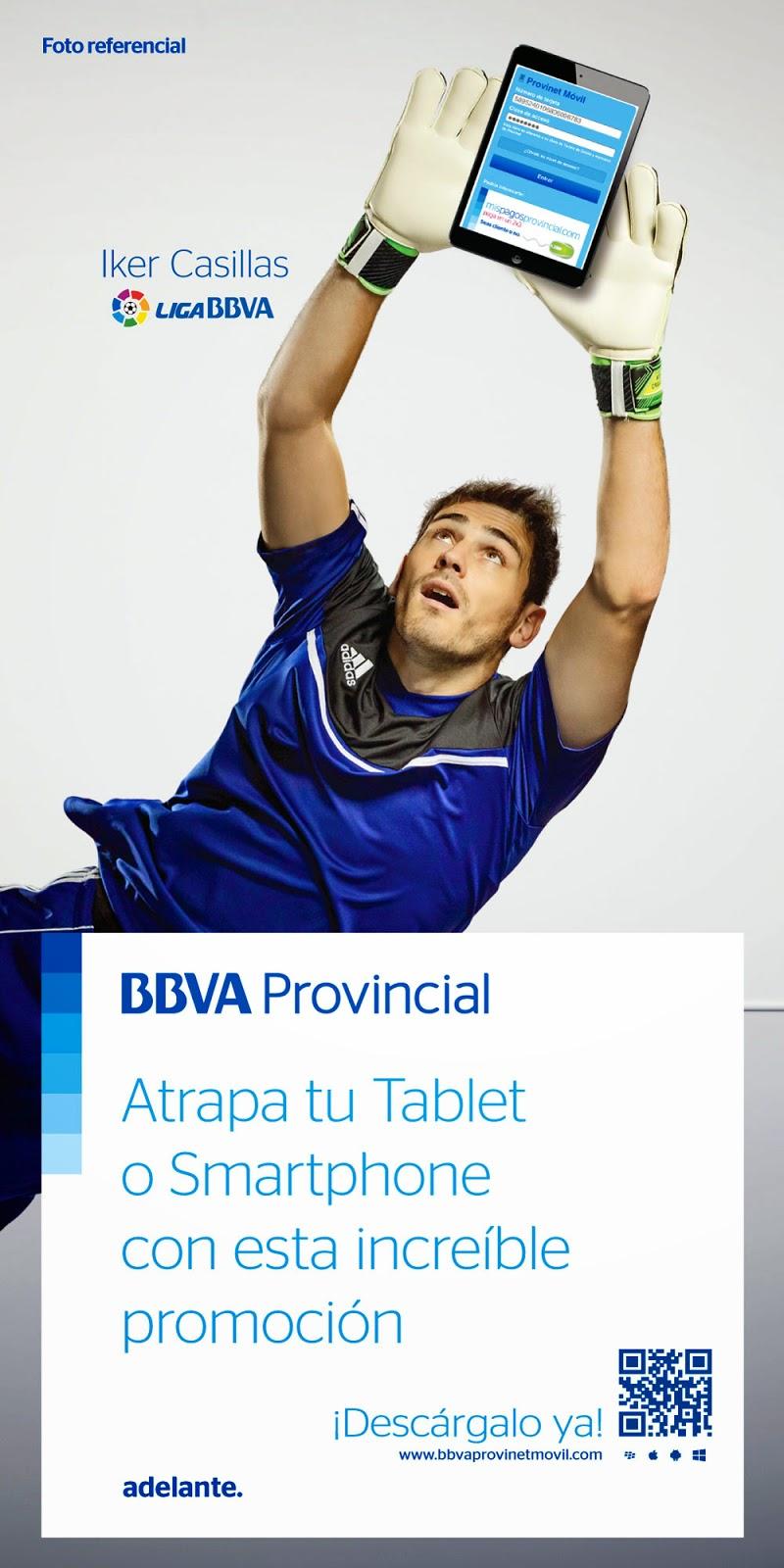 BBVA Provincial, Provinet, Promocion, Tablet, Smartphone