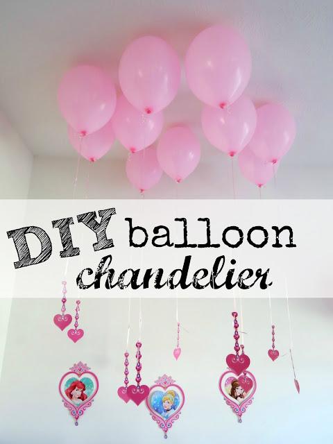 Diy balloon chandelier easy party decor hello splendid for Balloon chandelier decoration