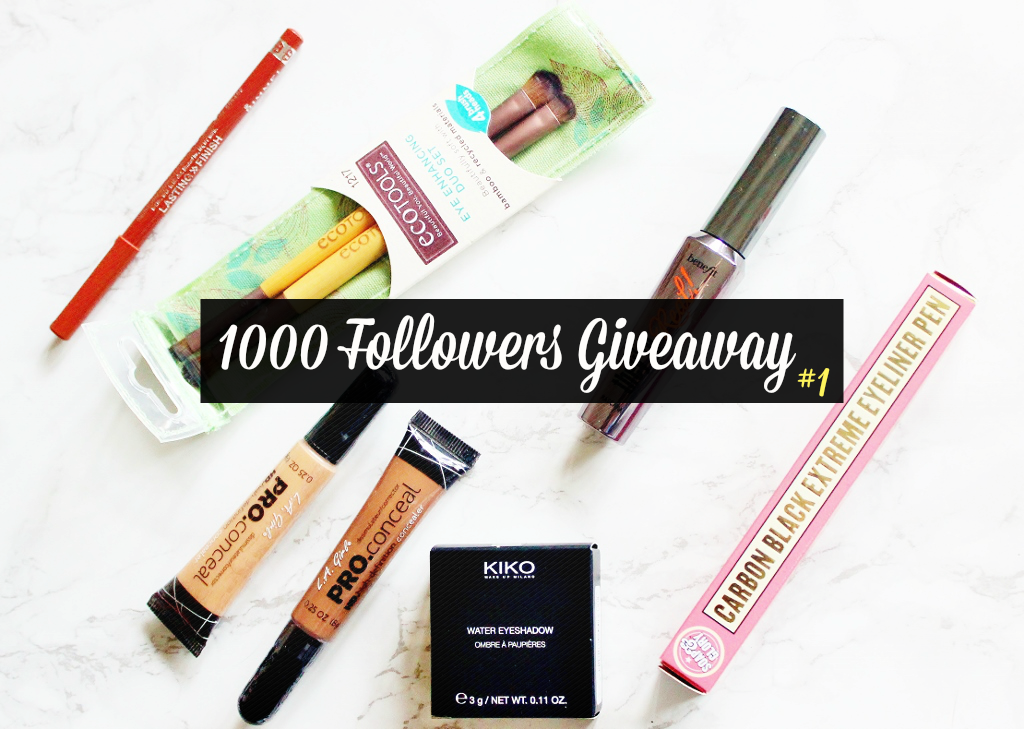 1000 followers giveaway, yaaaay