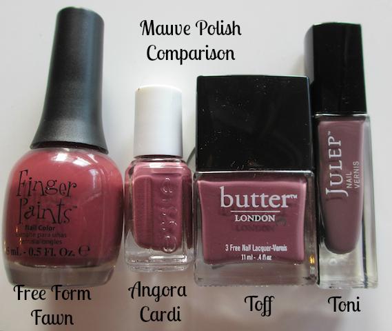 Mauve Nail Polish Comparison