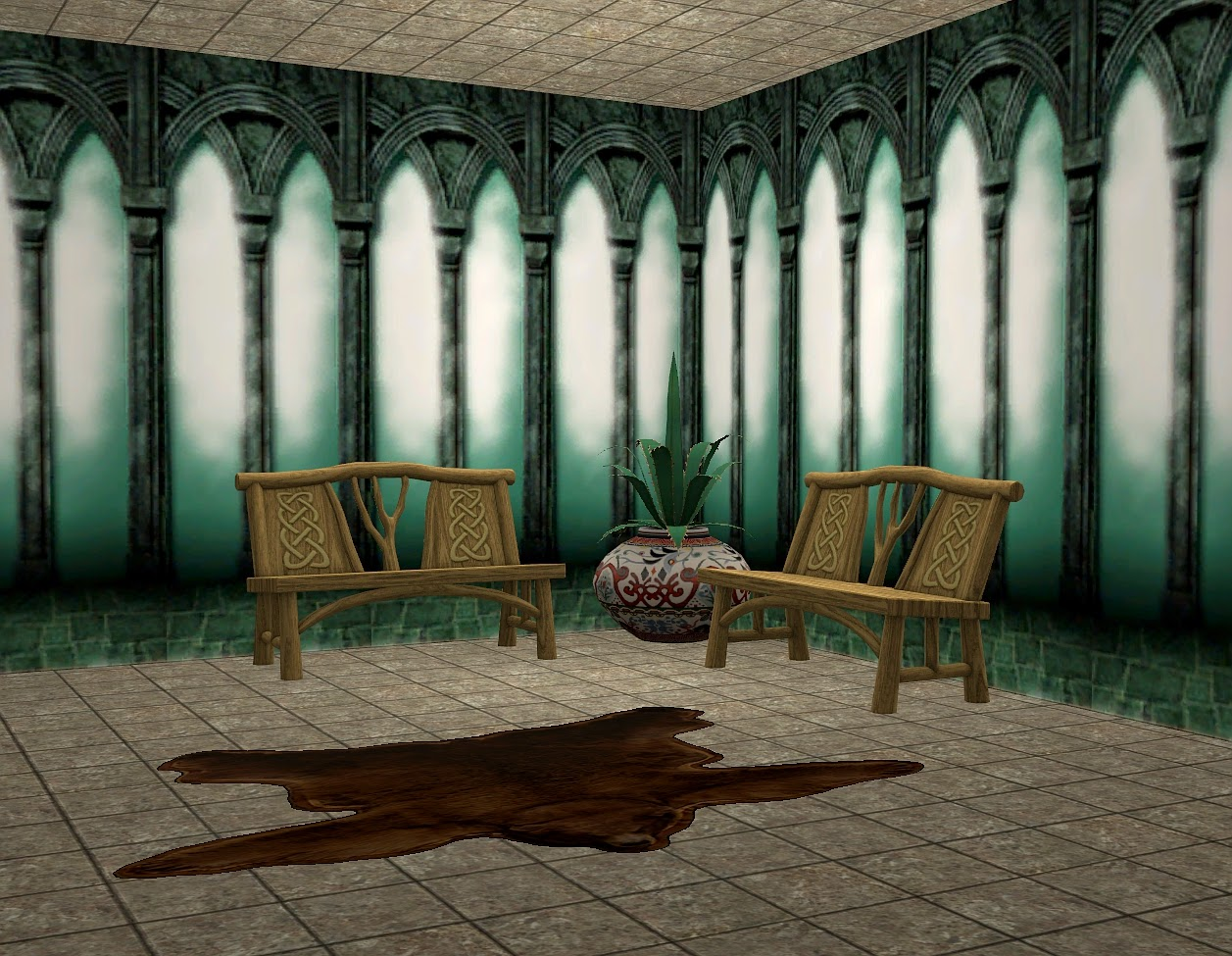 theninthwavesims the sims 2 harry potter and the chamber of mural but the middle piece was seamless and looked better than the mural so i decided to make it a full wall found in paneling costing 8 per square
