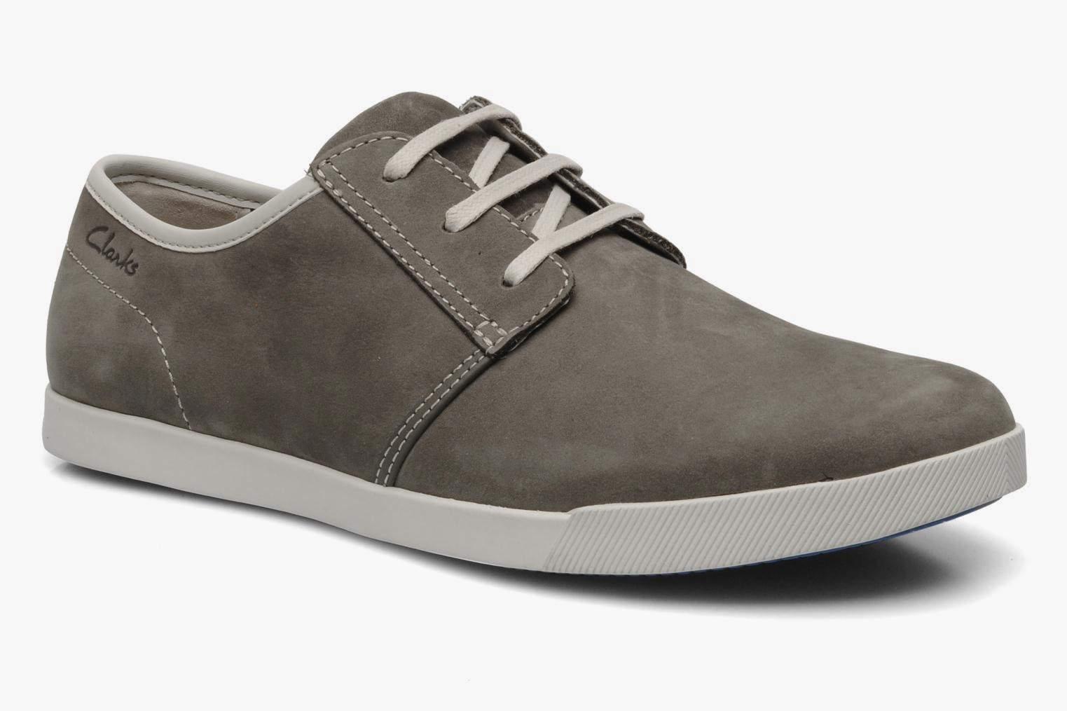 Clarks grey lace up shoes for men