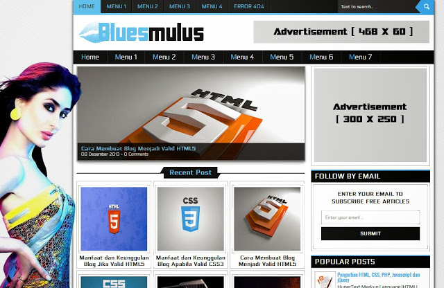 Bluemulus Blogger Template