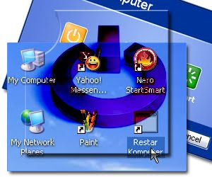 cara buat shortcut shutdown windows xp
