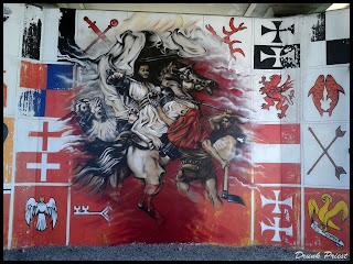 Mural Bitwa pod grunwaldem