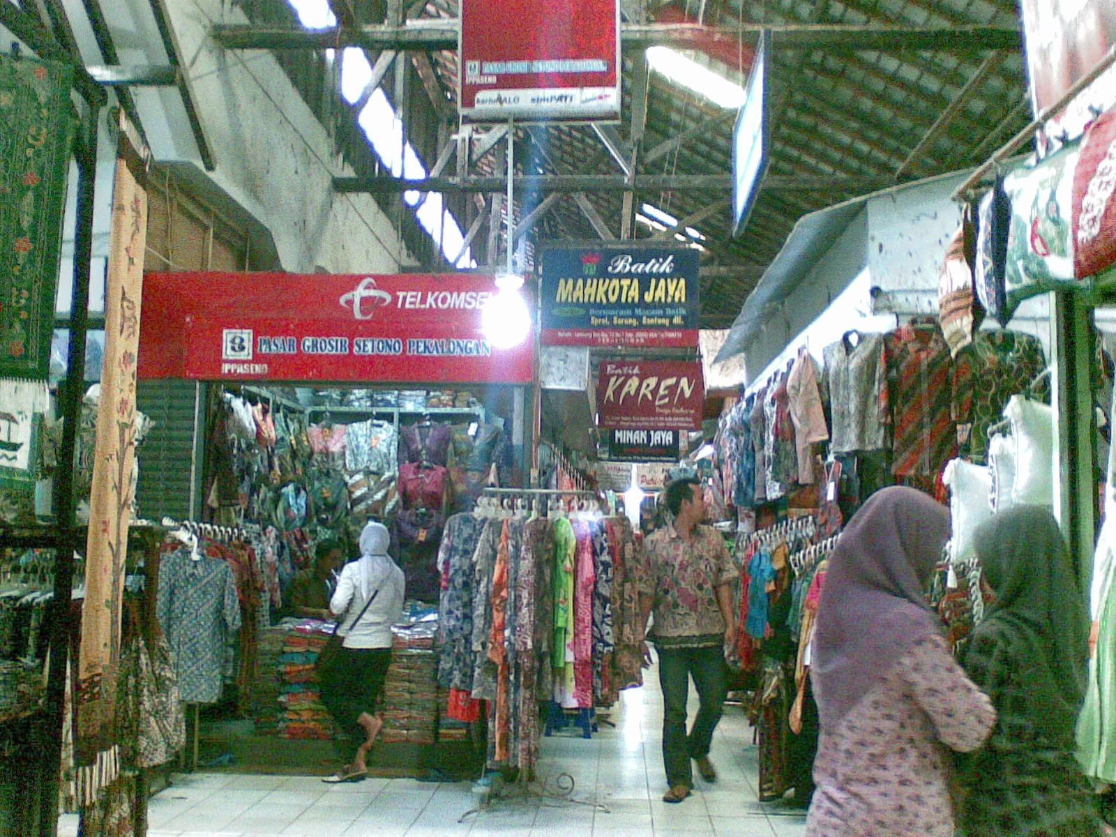 pasar grosir setono dan ibc international batik center in