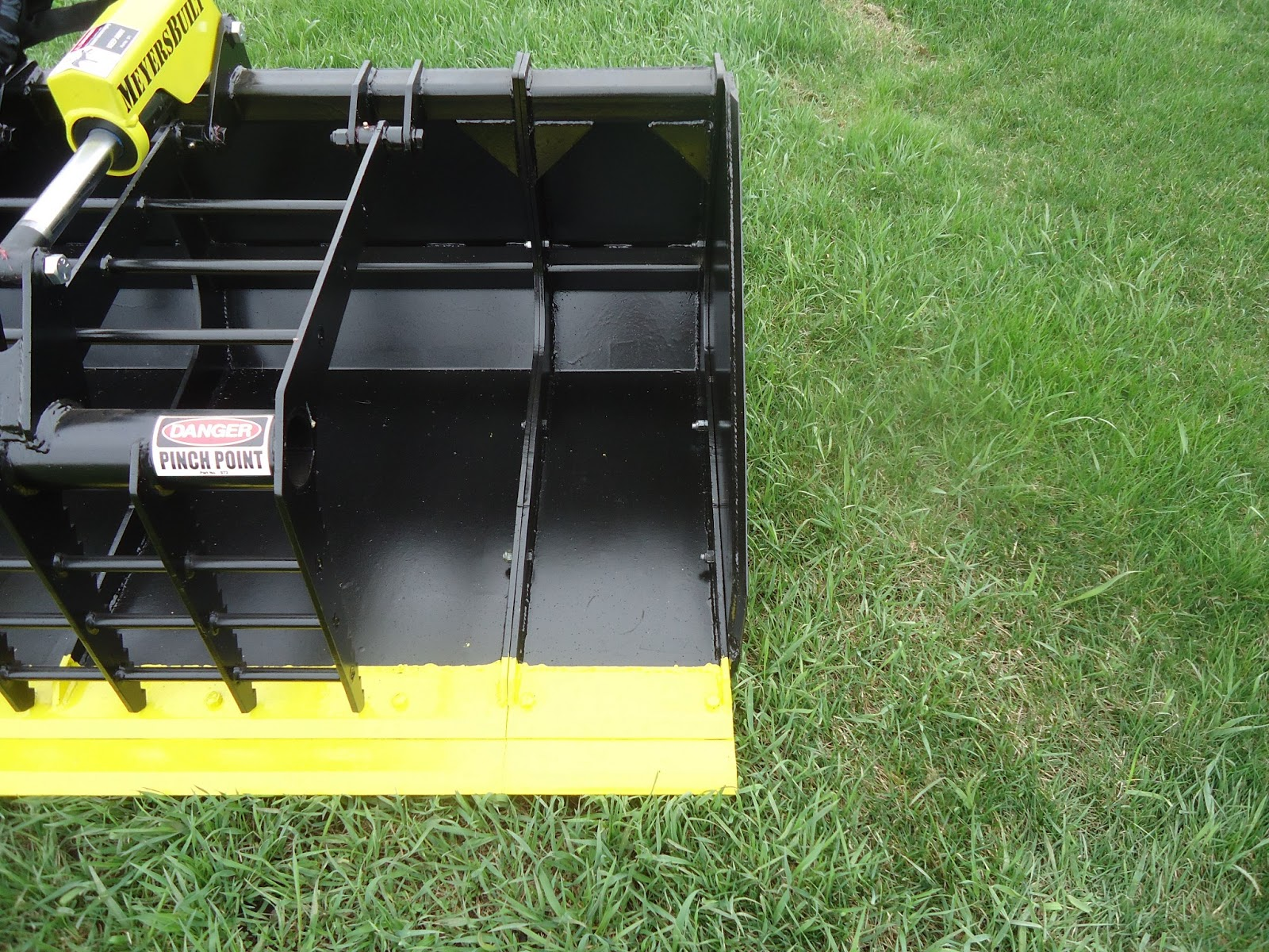 Bolt On Grapple : Meyers built skid steer loader attachments may