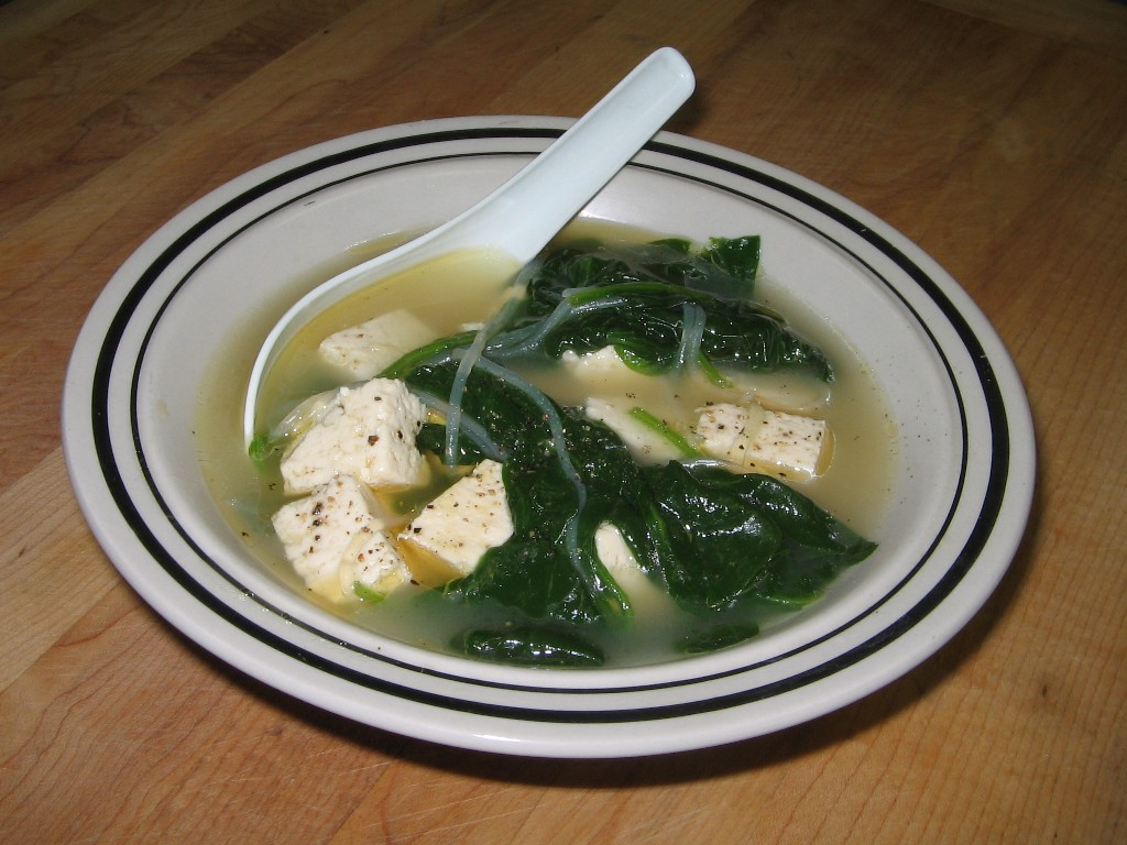 ... Little Corner of the Web: How to Make an Easy, Basic Spinach Tofu Soup