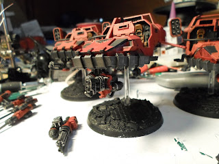 Blood Raven Land speeder equipped with a heavy flammer