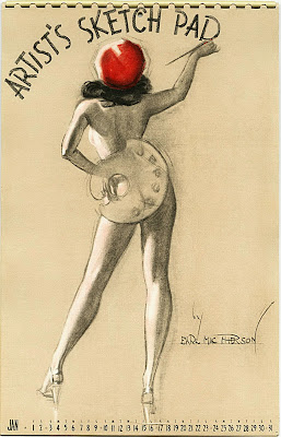 Earl MacPherson pin up art