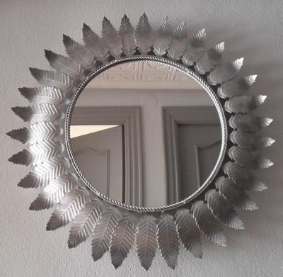 La cacharreria espejo sol espa ol for Espejo vintage plateado