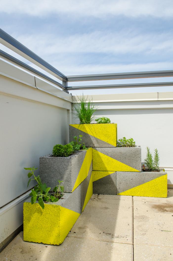 ideias para o jardim-floreiras