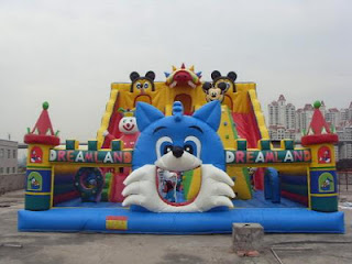 RUMAH BALON BLUE CAT