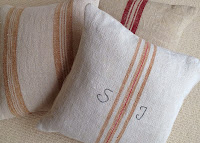 Grainsack Cushion Custom Initials