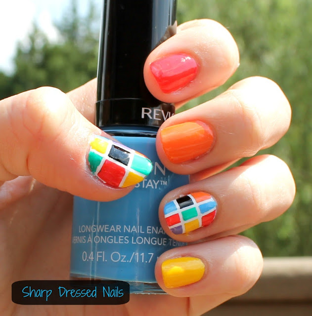Nail Striping Tape Walmart: Sharp Dressed Nails: Rainbow Checkered Nails