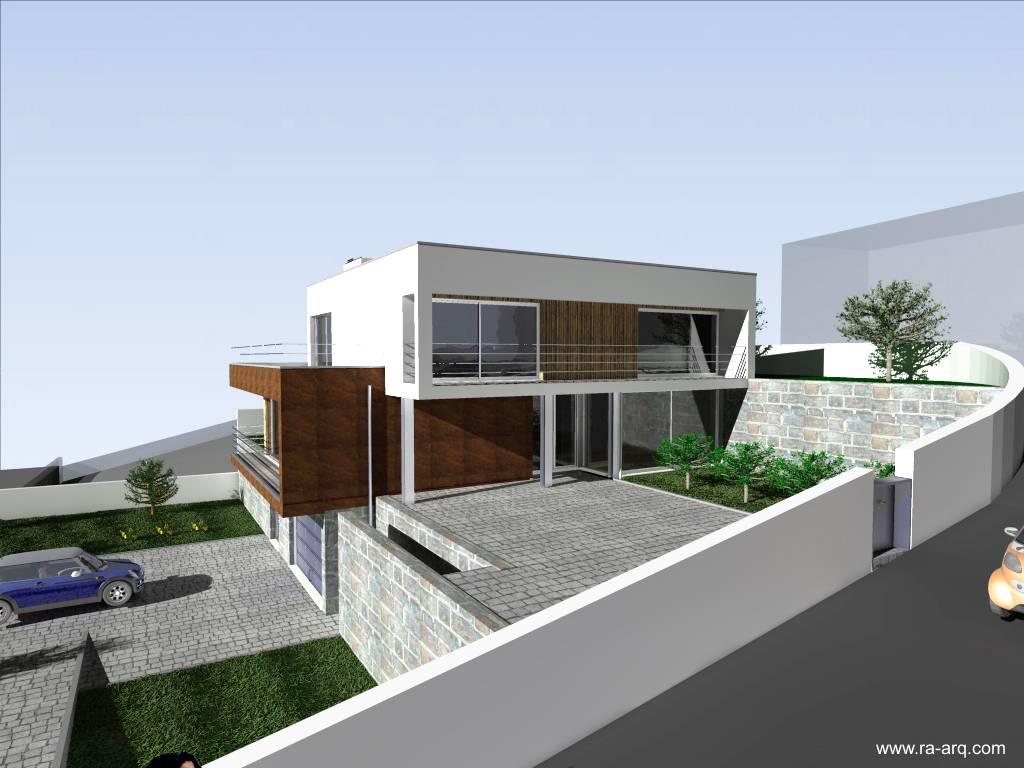 arquitectura de casas moderna casa en desnivel estilo