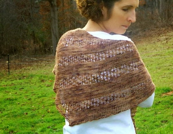 Wicker Asymmetrical Shawl