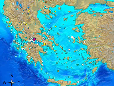 EARTHQUAKES IN GREECE ON LINE