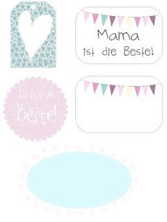 Kostenlose Etiketten zum Muttertag