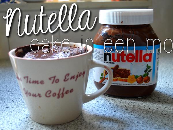 ♥ NUTELLA CAKE IN EEN MOK ♥