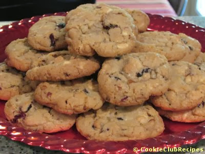 White Chocolate Cranberry Nut Cookies Recipe at CookieClubRecipes