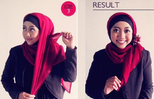 Panduan Cara memakai Jilbab Modis Kantor Paling Simple