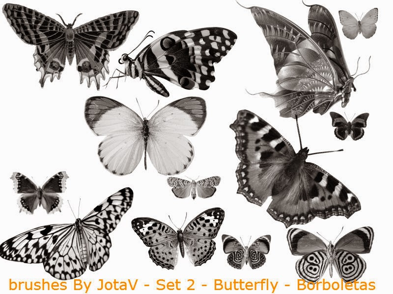 brushes By JotaV - Set 2 - Butterfly - Borboletas