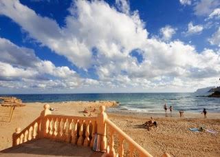 Het strandje Platgetes in Moraira