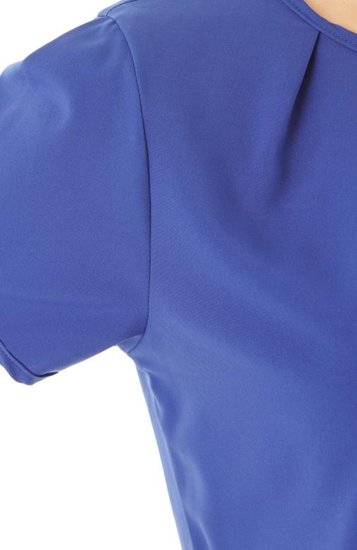 Tulip Peplum Blouse – Blue