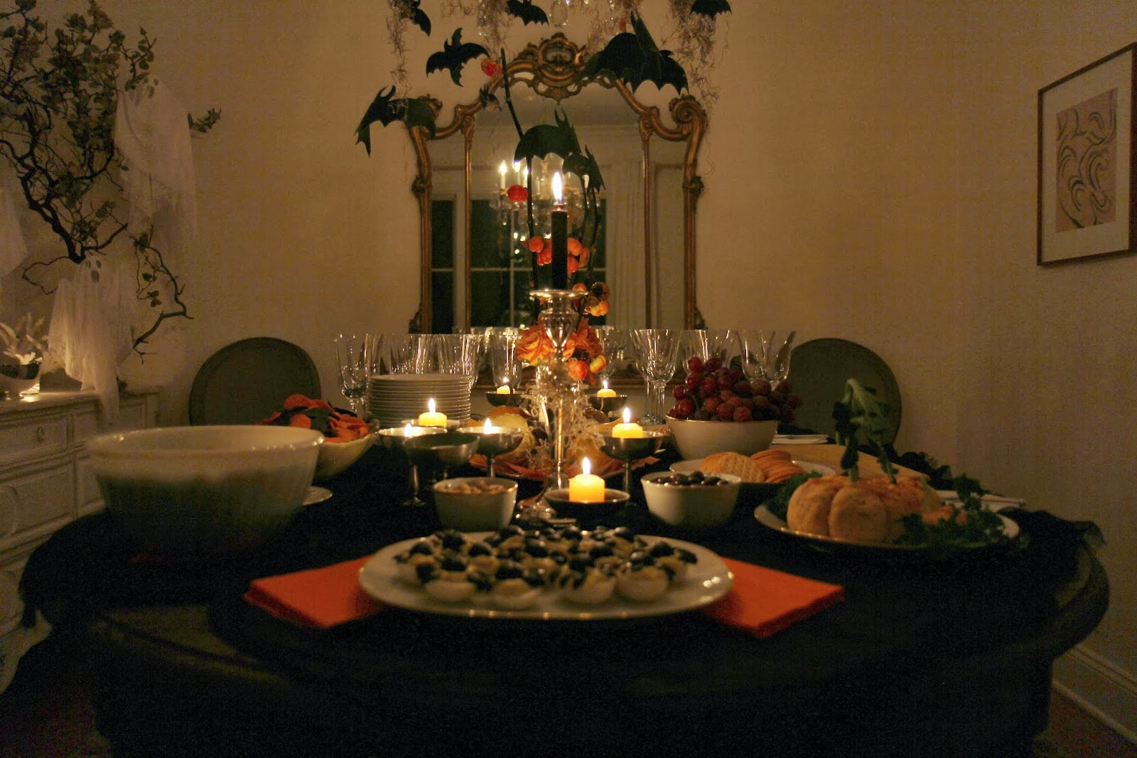 Dining Room Table - Spooky Glam Halloween Party