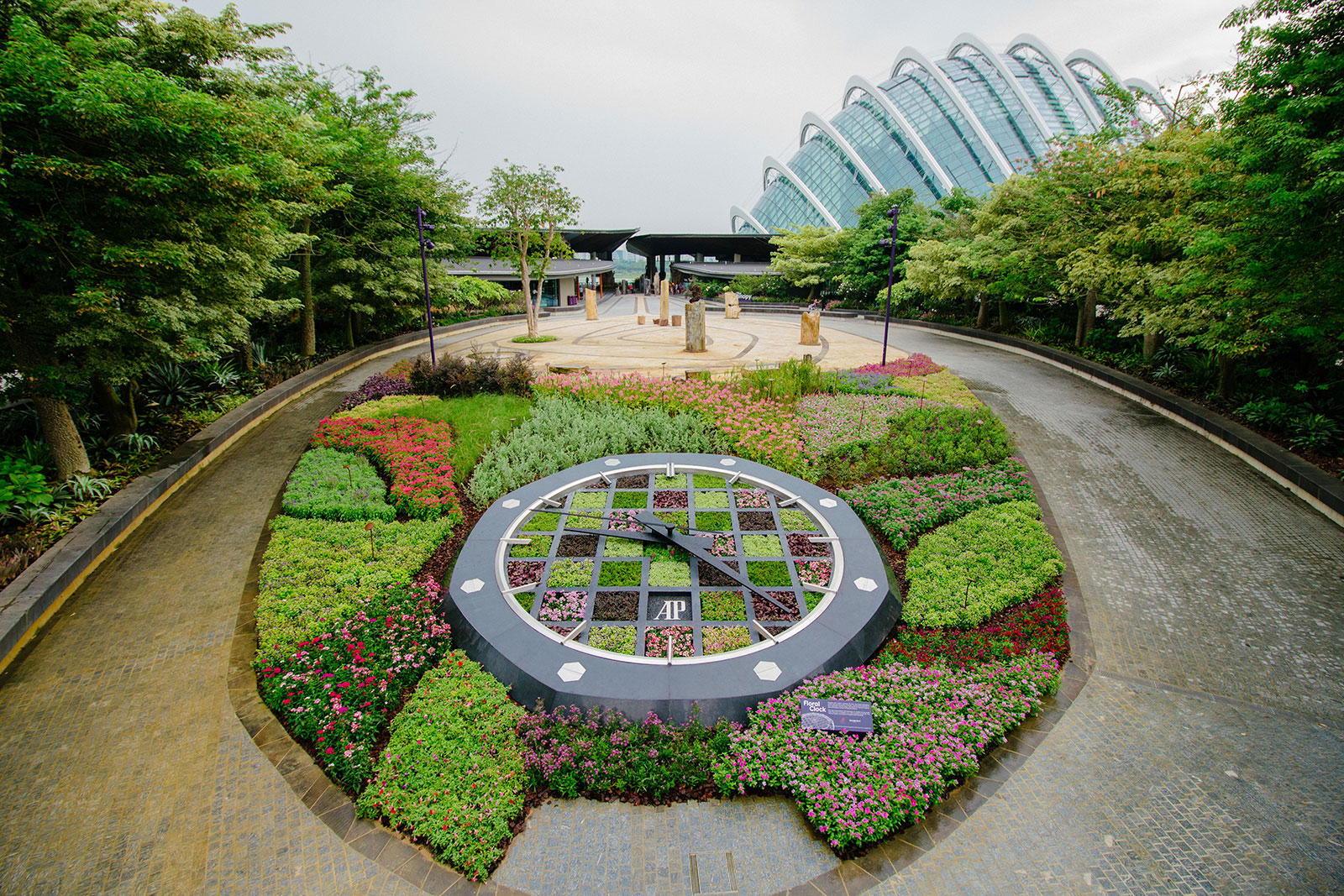 The Royal Oak Wristwatch The Audemars Piguet Floral Clock Is A Gift To  Singapore For Its 50th Year Of Independence On Display At Gardens By The Bay