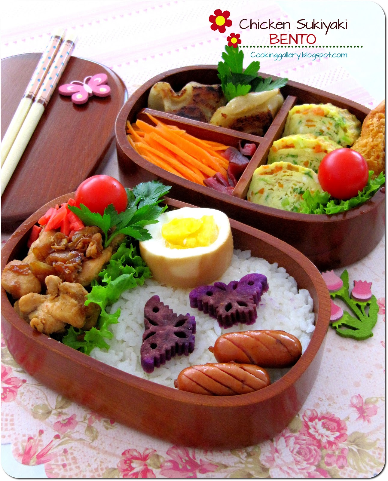 Chicken Sukiyaki Bento | Cooking Gallery