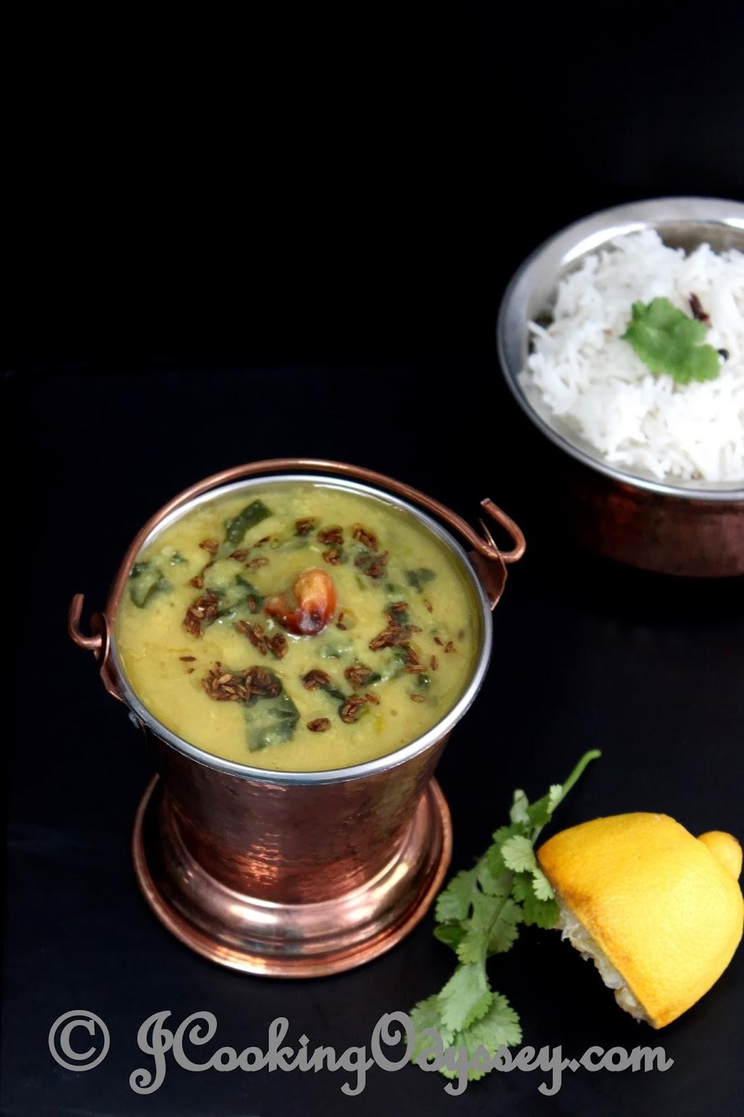 Jagruti's Cooking Odyssey: Adraki Masoor aur palak Daal - Ginger, Red ...