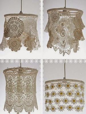crafts lace ideas, utilize remaining lace