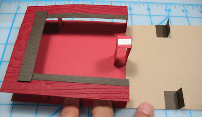 open up fold card