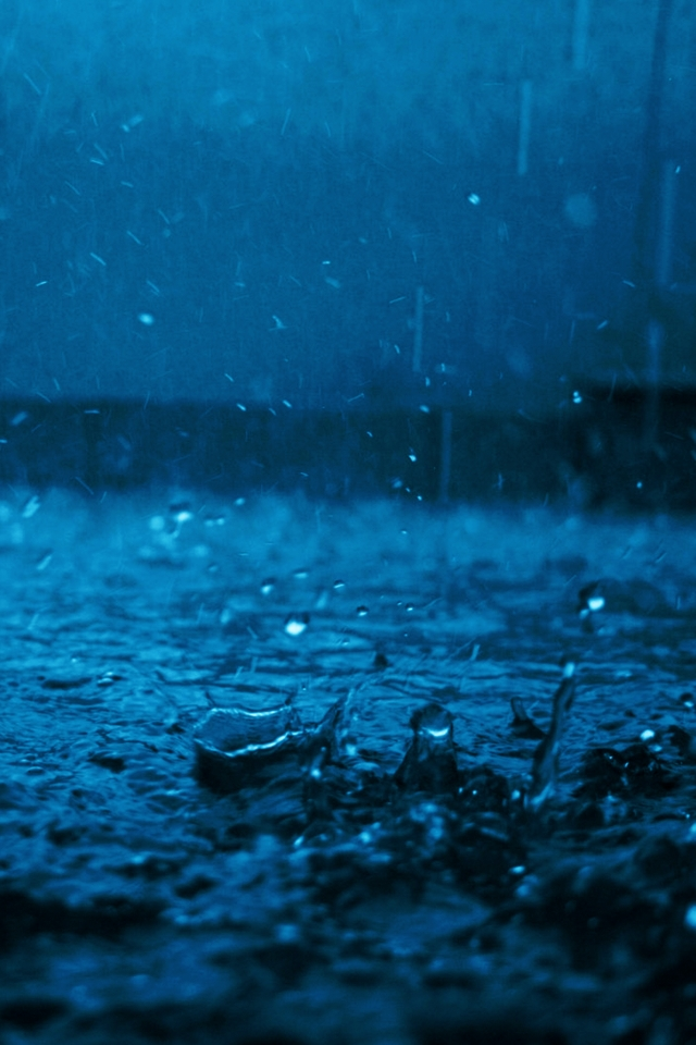 Beauty Re-Rendered  iPhone 4 Rain Wallpaper Theme
