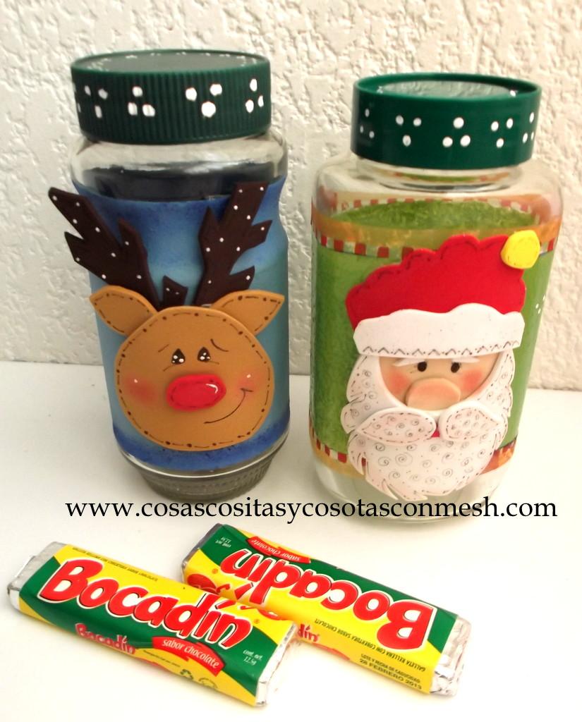 Baños Decorados Navidenos:Manualidades De Navidad Con Dulces