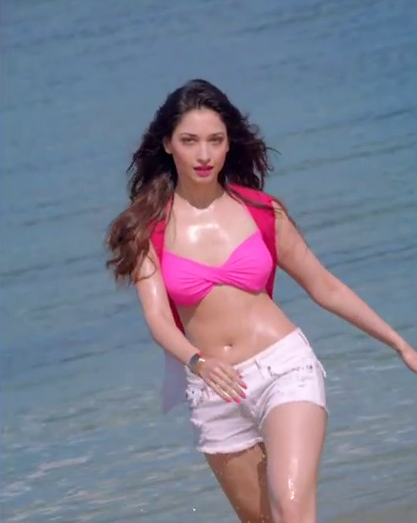 Tamanna Bhatia Sexy Bikini Stills From Bollywood